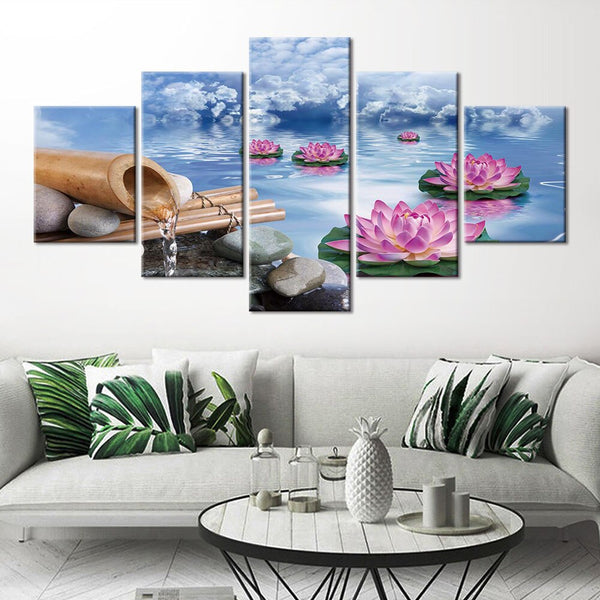 5 piece HQ Canvas Print frame available Zen Baddha Picture frame available