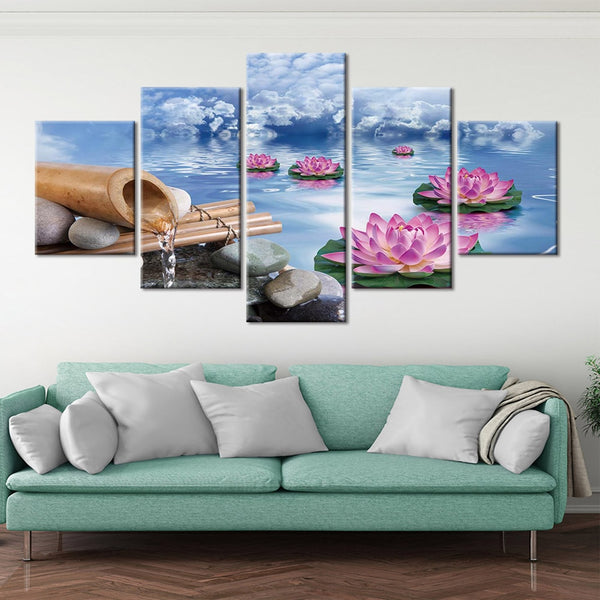 5 piece HQ Canvas Print frame available Zen Baddha Picture with frame