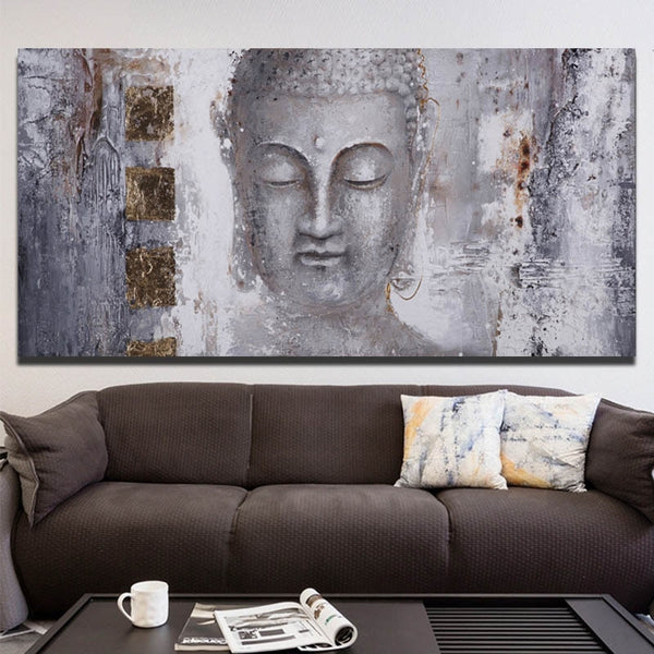 HQ Canvas Print Art Buddha Paintings Wall Art Picture
