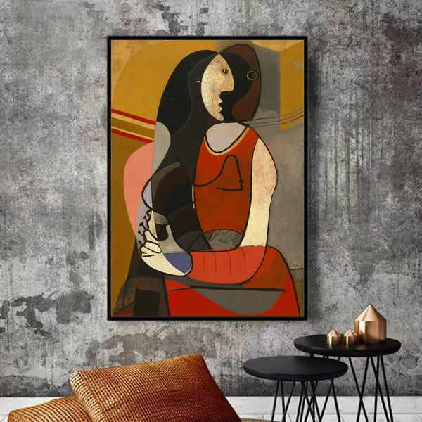 Hq Canvas Print Seated Woman Pablo Picasso Mga Sikat na Pagpipinta ng Reproduction Products Sa Etsy