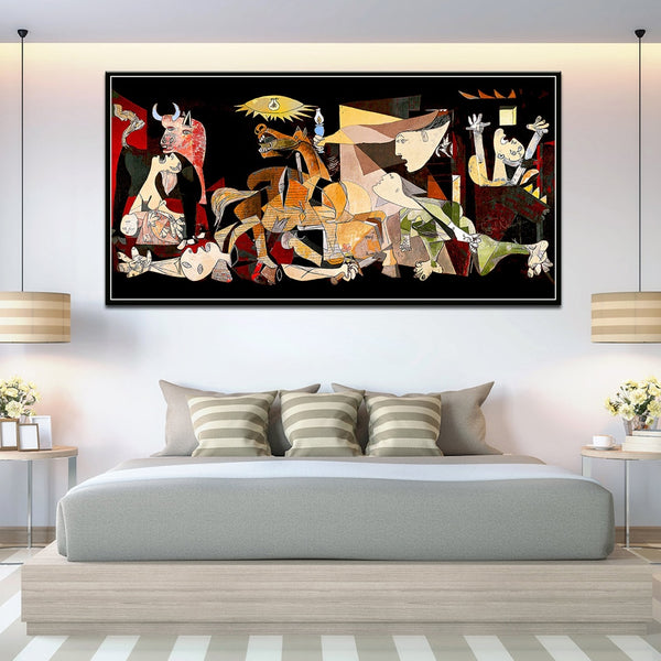 Picasso Guernica with frame Canvas Art Print Color Version Painting