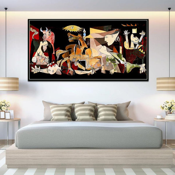 Slávna maľba Španielsko Picasso Guernica Vintage Classic Canvas Art Print (Canvas Print) Products On