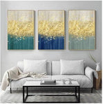 Hq Canvas Print Wall Art The Golden Splash With Frame