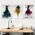 Hq Canvas Ballerina With Frame Wall Art Hunerê colayanê Ballerina