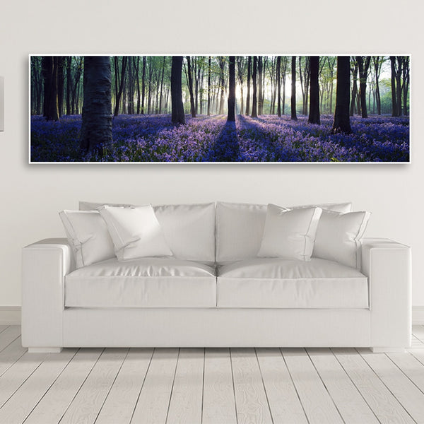Wall Art HQ Canvas Print Sunset Lavender Forest Picture Wall