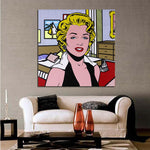 Lichtenstein Lady HQ canvas print Painting na may frame