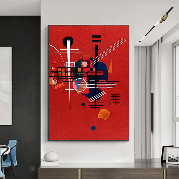 Wassily Kandinsky Abstract Canvas Art For Living Room HQ Canvas Print