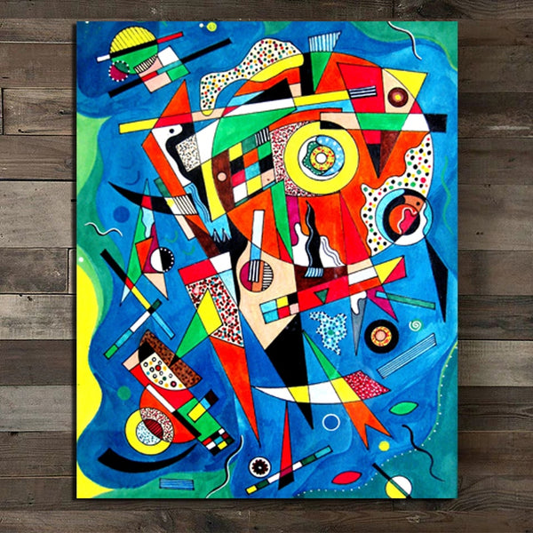 Wassily Kandinsky Abstract colorful Wall Art HQ Canvas Print frame available