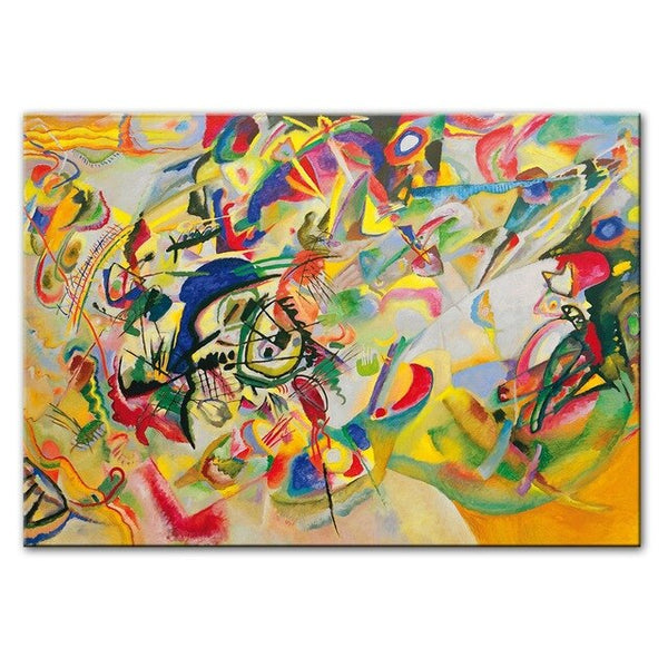 Wassily Kandinsky Composition VII 1913 Famous Abstract Wall Art HQ Canvas Print