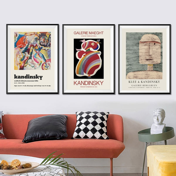 Wassily Kandinsky Vintage Gallery Museum Wall Art HQ Canvas Print