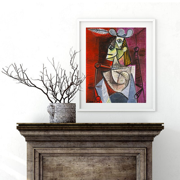 Picasso Woman in an Armchair HQ Canvas Print