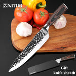Xituo New Chef Knives 8Inch Handmade Forged 7Cr17Mov Stainless Steel Sharp Kitchen Knife Santoku