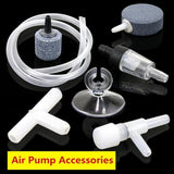 Air Pump Accessories One Way Non-Return Check Valve Oxygen Hose Suction Cup Holder Stone Bubble Disk