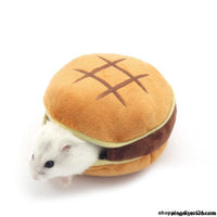 Cute Hamburger Small Animal Pet Criceto Casa Letto Winter Warm Squirrel Hedgehog Chinchilla House
