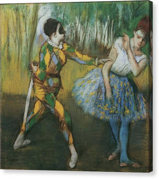 Edgar Degas Harlekin Und Colombine 1886 - HQ Canvas Print ready to hang