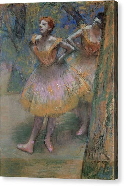 Edgar Degas Two Dancers 1893 - HQ Canvas Print ready to hang