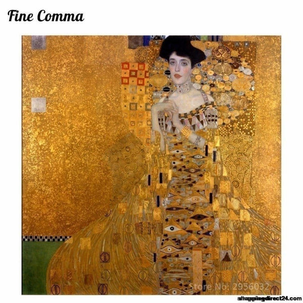 Gustav Klimt Golden Lady The Woman In Gold Canvas Painting Wall Art Pictures Hand Painted Oil