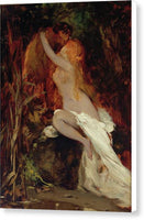 Hans Makart Faun And Nymph 1865 - Pinahaba ang Canvas Print Handa na Mag-hang