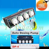 Jebao Dp-4 Version 2 Auto Dosing Pump para acuario Saltwater Marine Reef 4 Channel