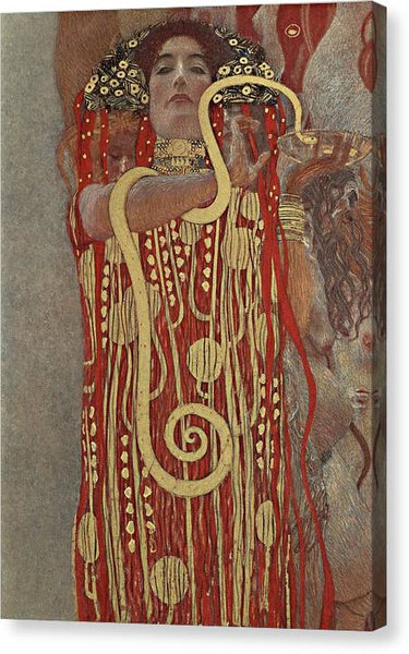 Klimt Hygieia - Stretched Canvas Print Ready to Hang