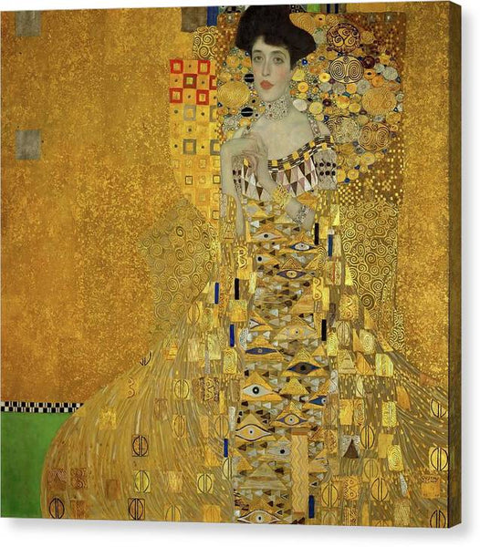 Klimt Portrait of Adele Bloch Bauer I 1907 - Stretched Canvas Print Ready to Hang