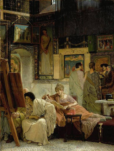 Lawrence Alma Tadema A Picture Gallery - HQ Art Print on paper