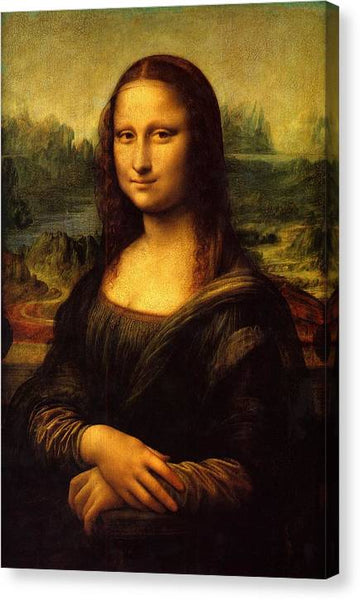 Leonardo da Vinci Mona Lisa - Stretched Canvas Print Ready to Hang