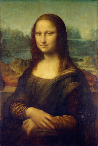 Oil Painting Mona Lisa by Leonardo da Vinci Canvas Paintings Wall Art Pictures Hand Painted Reproduction for Living Room (hand painted)
