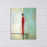 Aritist Handgemalt 2 Panel Acrylmalerei Abstract Man Woman