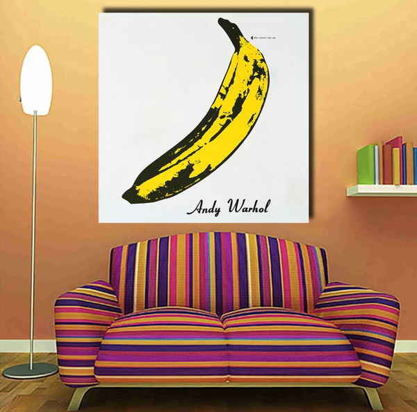 Andy Warhol Modern Banana Hand Painted Oil Painting Canvas Art