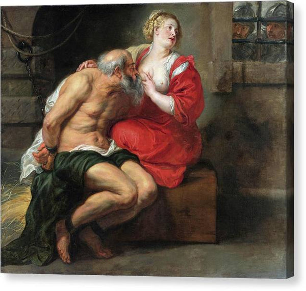 Peter Paul Rubens Cimon and Pero Roman Charity 1640 - HQ Canvas Print ready to hang