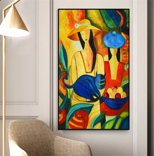 Picasso Famous Modern Pure Hand painted Canvas Painting Wall Picture (hand painted)