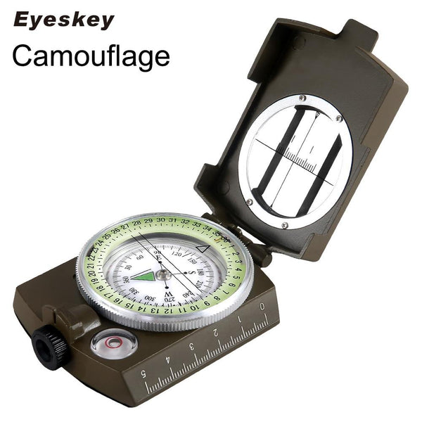 Eyeskey Waterproof Survival Military Compass Hiking Camping Army Pocket Lensatic