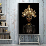 Hq lærred Udskriv Old Crown Black African Woman Wall Art Picture Products On Etsy