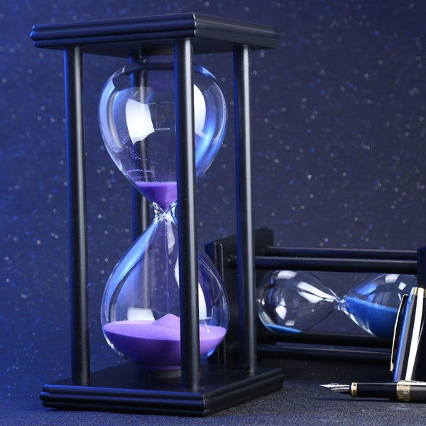 30/60 Minutes Hourglass Sand Timer Kitchen School Modern Wooden Hour Glass Sandglass Clock Tea