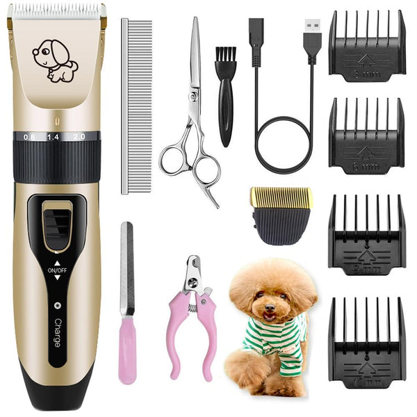 Electrical Dog Hair Trimmer Usb Charging Pet Clipper Rechargeable Low-Noise Cat Remover Grooming