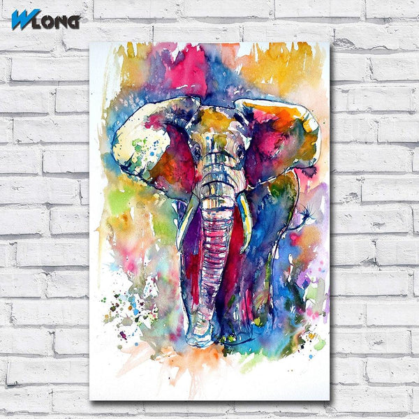 Fashion Printing Oil Painting Ink Art Majestic Elephant Wall Canvas Print Pictures