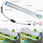 Aquarium Led Lighting Eu / us Plug Plant Light Fish Tank Aquatic Slim Grow Lampe 18/28/38/48 cm (gratuit
