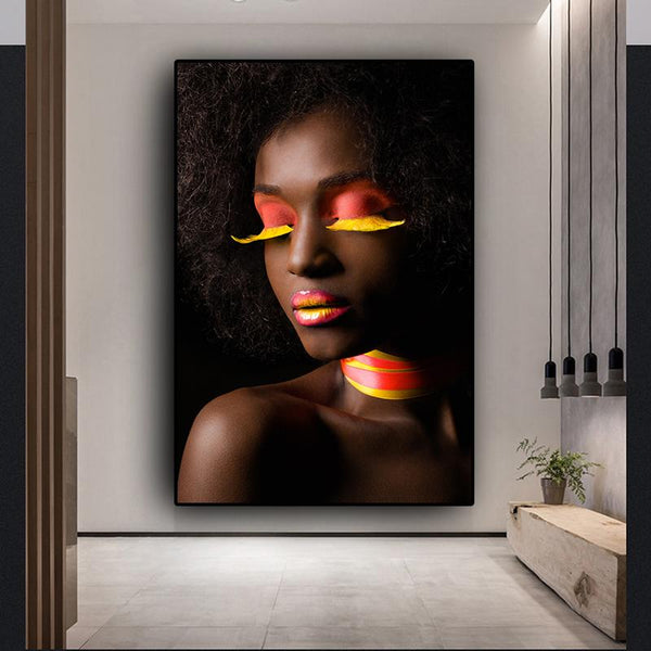Hq Canvas Print Black And White African Sexy Woman Wall Art Picture Products On Etsy