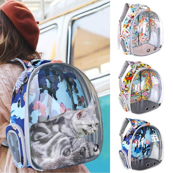 Cat Carrier Bag Breathable Transparent Puppy Backpack Astronaut Cats Box Cage Small Dog Pet Travel