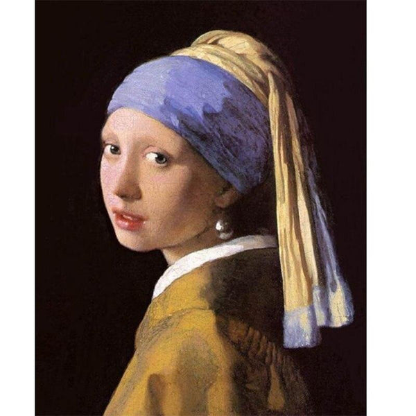 Hand Made Museum Quality Reproduction Classic Girl A Pearl Earring Johannes Vermeer Famous Figure