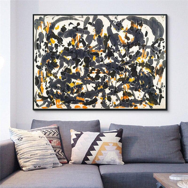 High Quality Giclee Print Canvas Art By Jackson Pollock Abstract Wall Living Room Home Office