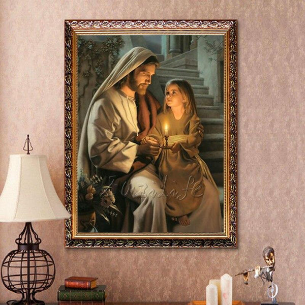 High Quality Giclee Print Household Adornment Christ Jesus Loved Children Decorative Painting Print