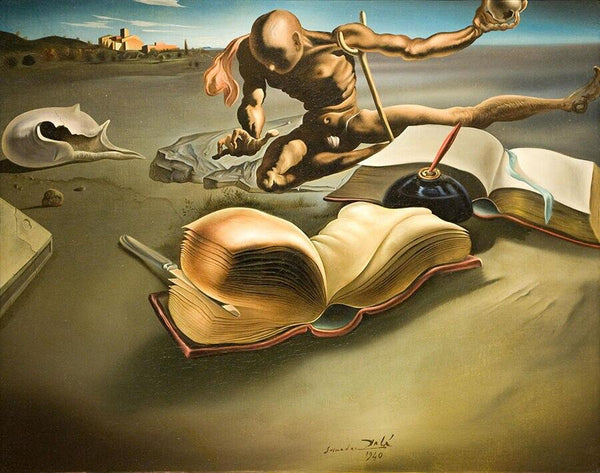 High Quality Giclee Print Salvador Dali Book Creates A Book Giclee Of Painting Silk Art Prints Wall