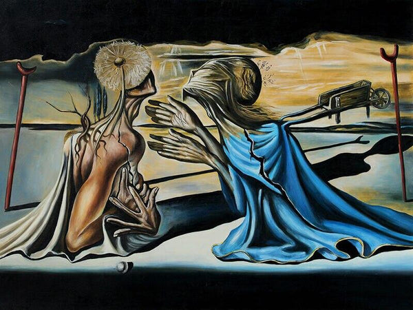 High Quality Giclee Print Salvador Dali Tristan And Isolde Giclee Of Painting Silk Art Prints Wall