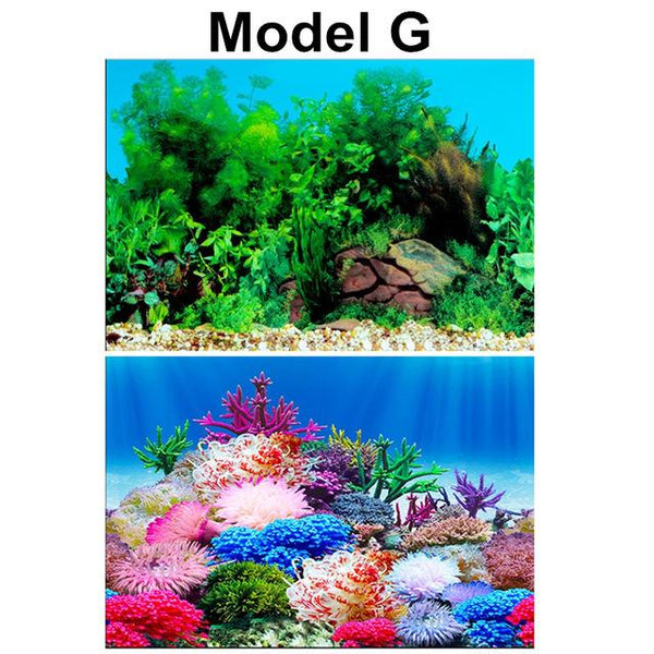 Pvc Double Side Aquarium Poster Background Decoration Ocean Secen Aquatic For Fish Tank Wall