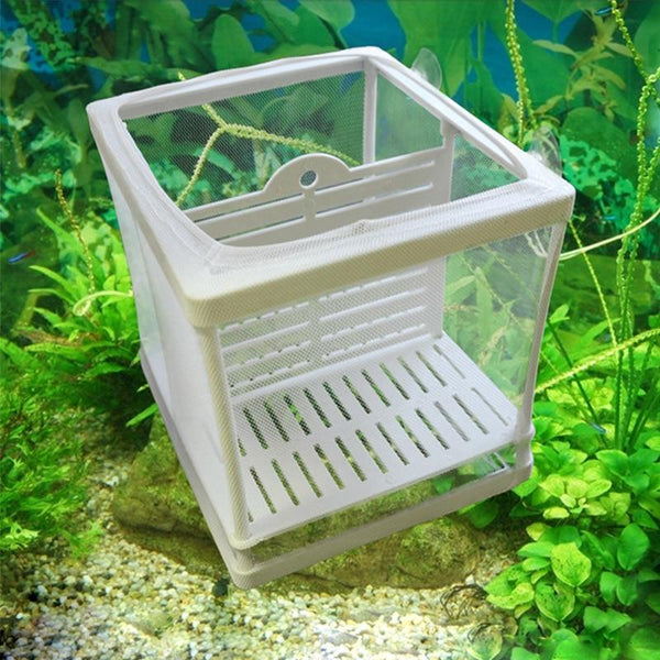 Aquarium Fish Breeding Breeder Box Baby Hatchery Isolation Net Tank Incubator Hanging Accessory