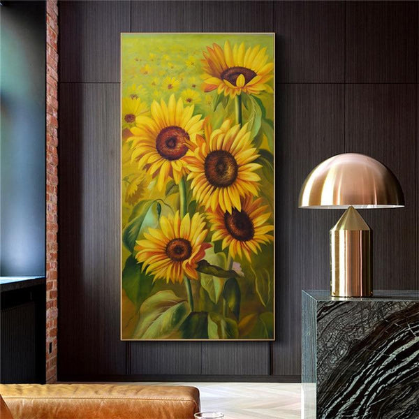 High Quality Canvas Print Sunflower Wall Art Pictures Modern Big Size For Living Room Quadro