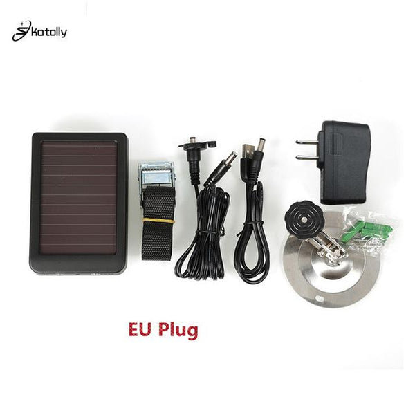 Skatolly Outdoor Solar Panel Charger Us/eu Plug Hunting Trail Camera For Suntek Eu