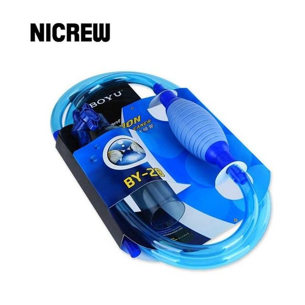 Nicrew Aquarium Gravel Cleaner Siphon Syphon Cleaning Tool Tools Semi-Automatic Filter Vacuum For